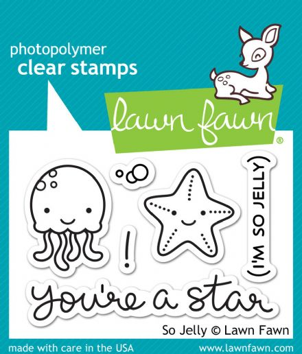 LF0899 S ~ SO JELLY ~ CLEAR STAMPS BY LAWN FAWN